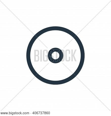 record icon isolated on white background from multimedia collection. record icon thin line outline l
