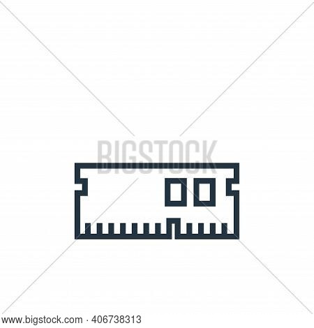 ram icon isolated on white background from hardware collection. ram icon thin line outline linear ra