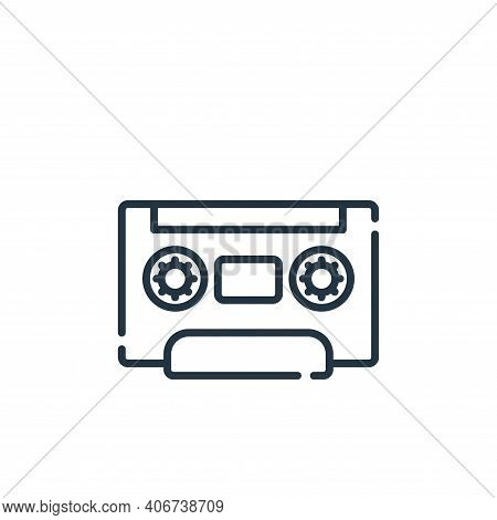 radio cassette icon isolated on white background from hippies collection. radio cassette icon thin l