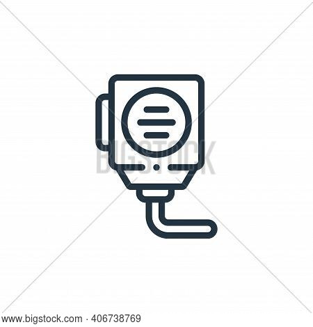 radio icon isolated on white background from taxi service collection. radio icon thin line outline l