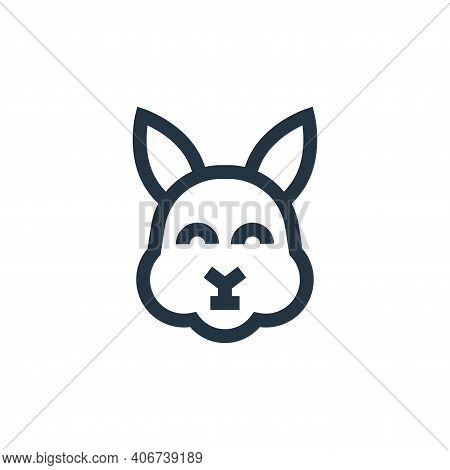 rabbit icon isolated on white background from pet shop collection. rabbit icon thin line outline lin