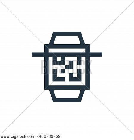 qr scan icon isolated on white background from payment collection. qr scan icon thin line outline li