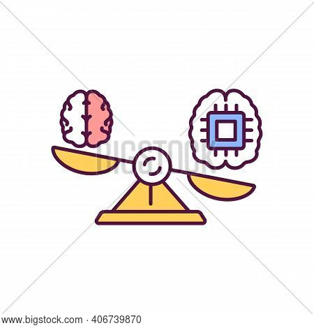 Superintelligence Rgb Color Icon. Artificial Intelligence, Innovative Virtual Intellect. Ai On Scale