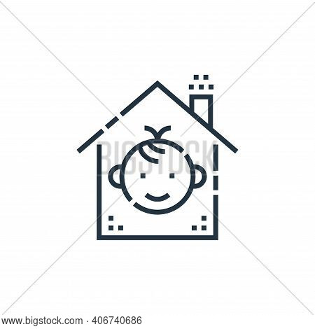 protection icon isolated on white background from smarthome collection. protection icon thin line ou