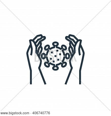 protection icon isolated on white background from washing hand collection. protection icon thin line