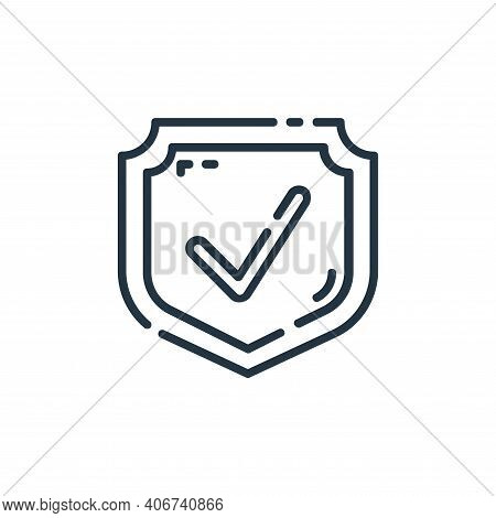 protection icon isolated on white background from user interface collection. protection icon thin li