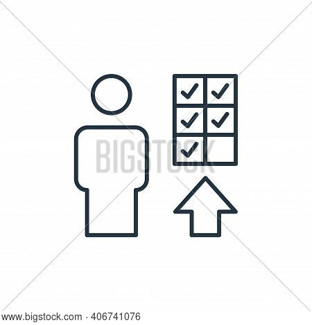 promotion icon isolated on white background from leadership collection. promotion icon thin line out