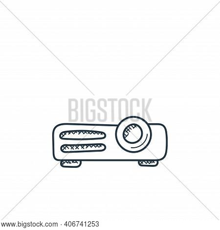 projector icon isolated on white background from technology collection. projector icon thin line out