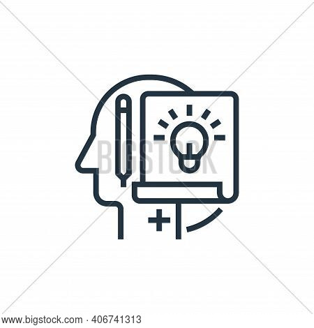 project icon isolated on white background from business risks collection. project icon thin line out