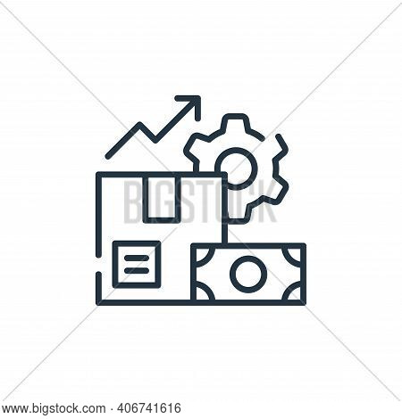 production icon isolated on white background from industrial process collection. production icon thi