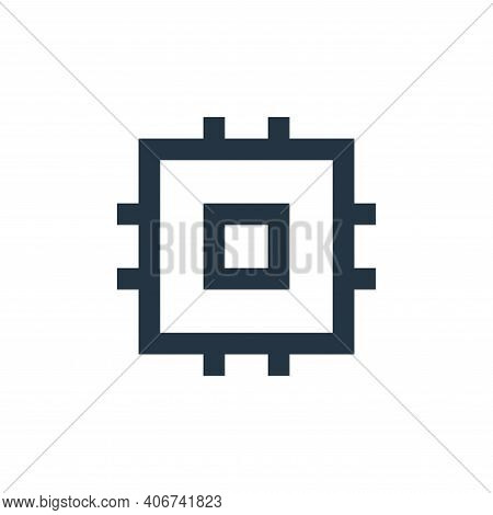 processor icon isolated on white background from user interface collection. processor icon thin line