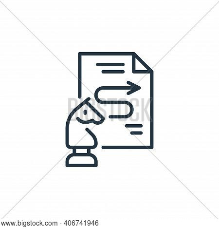 process icon isolated on white background from life skills collection. process icon thin line outlin