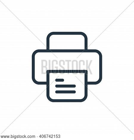 printer icon isolated on white background from work office supply collection. printer icon thin line