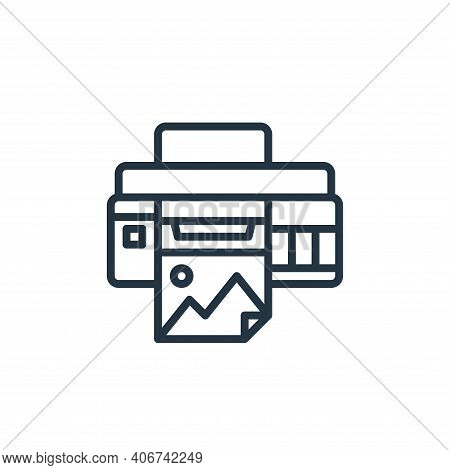 printer icon isolated on white background from graphic design collection. printer icon thin line out
