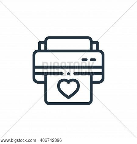printer icon isolated on white background from design thinking collection. printer icon thin line ou