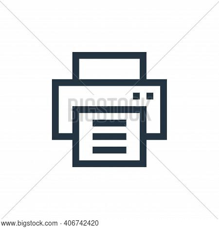 printer icon isolated on white background from web essentials collection. printer icon thin line out
