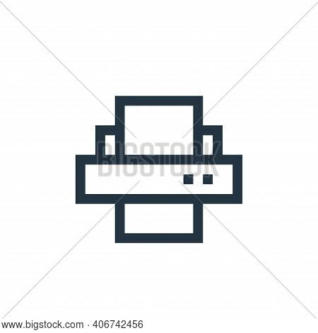 printer icon isolated on white background from job resume collection. printer icon thin line outline