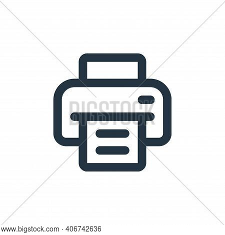printer icon isolated on white background from user interface collection. printer icon thin line out