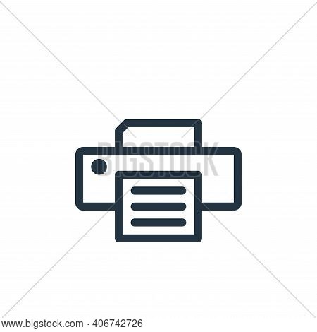 printer icon isolated on white background from technology collection. printer icon thin line outline