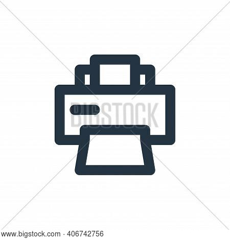 printer icon isolated on white background from electronics collection. printer icon thin line outlin