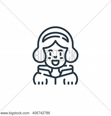 princess icon isolated on white background from fantastic characters collection. princess icon thin