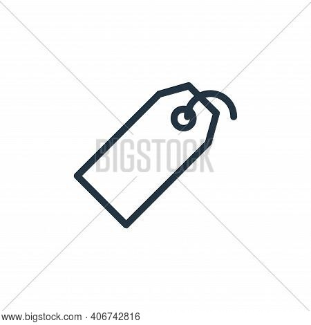 price tag icon isolated on white background from banking and finance flat icons collection. price ta