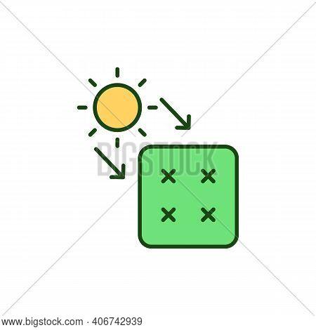 Sun Exposure Rgb Color Icon. Sun Light Damage. Solar Panel. Renewable Energy Source. Alternative Pow