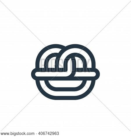 pretzel icon isolated on white background from europe collection. pretzel icon thin line outline lin