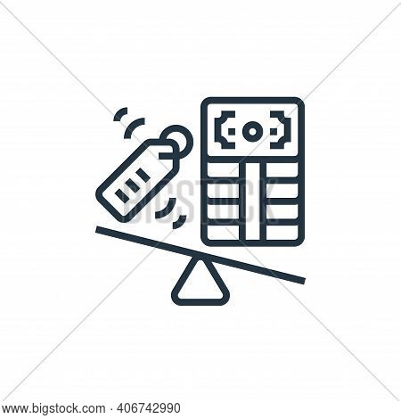 pressure icon isolated on white background from business risks collection. pressure icon thin line o