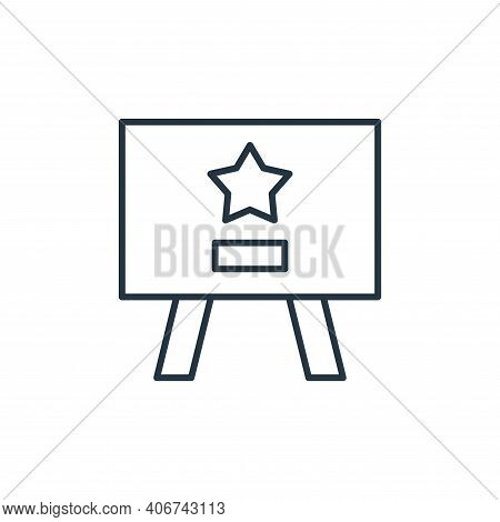 presentation icon isolated on white background from leadership collection. presentation icon thin li