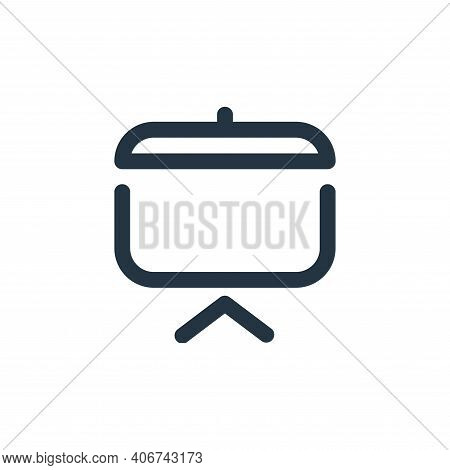 presentation icon isolated on white background from school collection. presentation icon thin line o