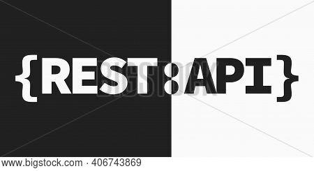 Rest Api Symbol, Representational State Transfer Emblem.