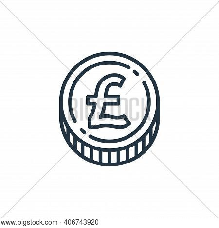 pound money icon isolated on white background from money and currency collection. pound money icon t