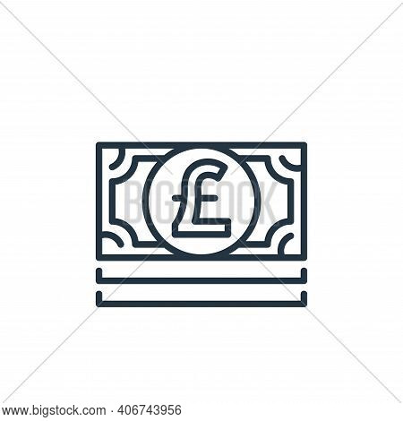 pound bills icon isolated on white background from money and currency collection. pound bills icon t