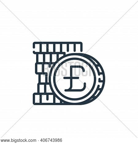 pound icon isolated on white background from banking and money collection. pound icon thin line outl