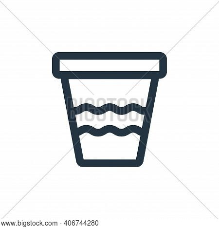 pot icon isolated on white background from landscaping equipment collection. pot icon thin line outl