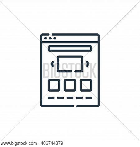 portfolio icon isolated on white background from web development collection. portfolio icon thin lin