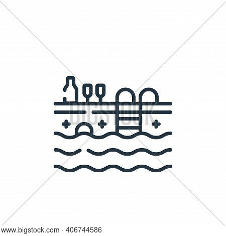 pool icon isolated on white background from celebration collection. pool icon thin line outline line