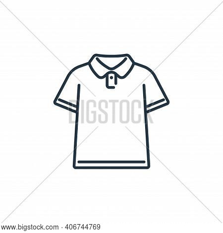 polo shirt icon isolated on white background from clothes and outfit collection. polo shirt icon thi