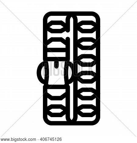 Paracord Bracelet Line Icon Vector Illustration Flat