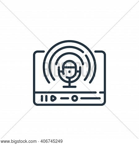 podcast icon isolated on white background from social media collection. podcast icon thin line outli