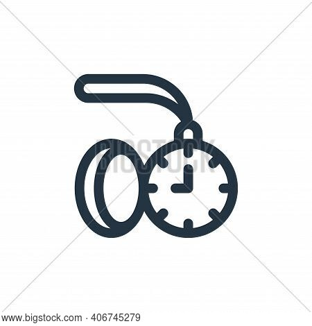 pocket watch icon isolated on white background from england collection. pocket watch icon thin line