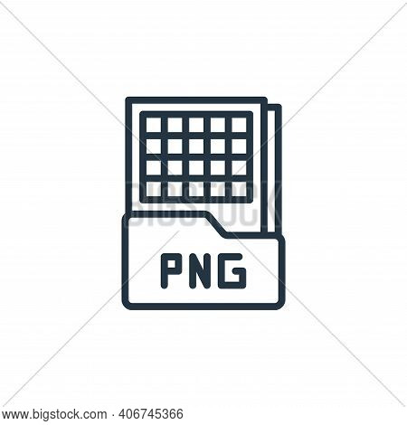 png file icon isolated on white background from graphic design collection. png file icon thin line o