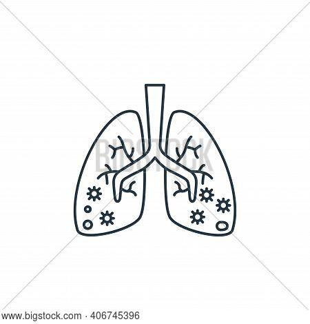 pneumonia icon isolated on white background from coronavirus covid collection. pneumonia icon thin l