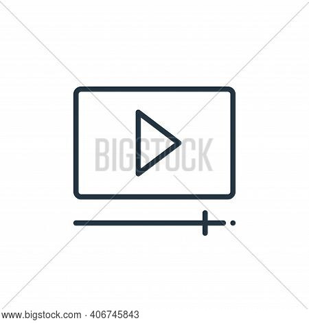 play video icon isolated on white background from online learning collection. play video icon thin l