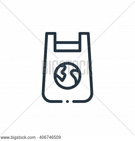 plastic bag icon isolated on white background from world love collection. plastic bag icon thin line
