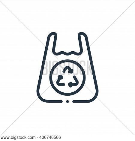 plastic bag icon isolated on white background from plastic products collection. plastic bag icon thi
