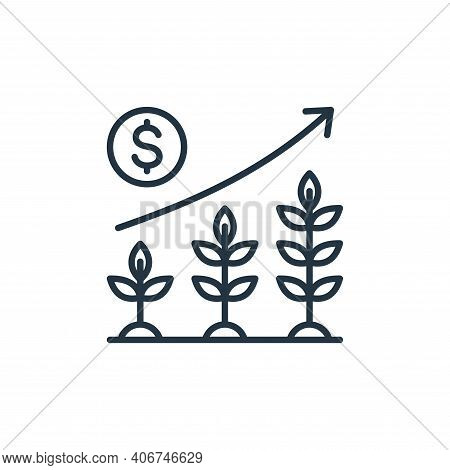 plants icon isolated on white background from smart farm collection. plants icon thin line outline l