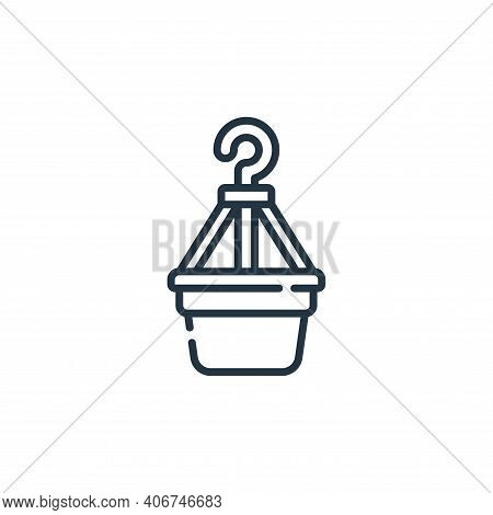plant pot icon isolated on white background from plastic products collection. plant pot icon thin li