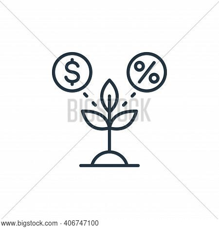 plant icon isolated on white background from smart farm collection. plant icon thin line outline lin